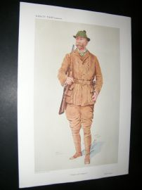 Vanity Fair Print 1909 Walter Winans, Game Hunter